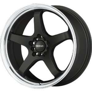 Tenzo R Meister Matte Black Wheel with Stainless Lip (17x7
