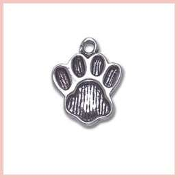 Sterling Silver Animal Pawprint Dog Paw Print Charm
