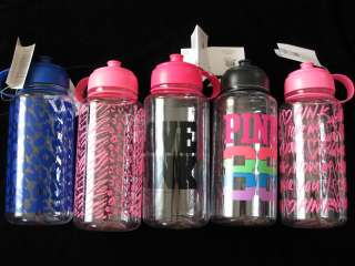 ONE 1 PINK DOG WATER BOTTLE ANIMAL PRINT 32oz YOGA WORK OUT NWT
