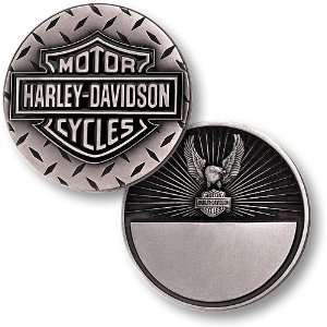 Harley Davidson Diamond Plate, Eagle Nickel Antique Coin