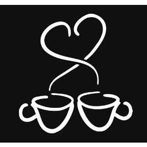 Coffee Heart Love Espresso Latte Vinyl Decal Sticker
