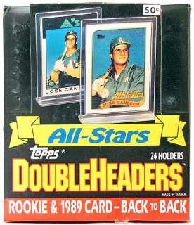 1989 Topps All Star Doubleheader Baseball Wax Box