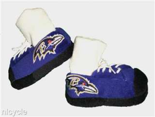 Baltimore RAVENS NFL BABY SNEAKER SLIPPERS with Real Laces L 6 9