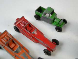 Vintage Tootsie Toy Rat Rod Race Car Set Diecast Model Drag Hotrod Old