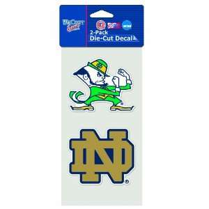 NCAA Notre Dame Fighting Irish 4 by 8 Die Cut Decal