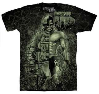 RANGER UP MACP ALL ARMY WARRIOR MMA SHIRT BLACK XL