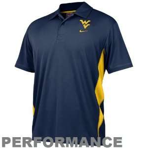 Virginia Mountaineers Navy Blue Dri FIT Mesh Polo