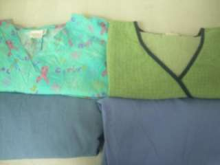 Medical Dental Scrubs Lot 9 Printed Outfits Sets Size 2XLARGE 2XL XXL