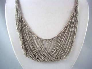 LAVISHING Sterling Silver Drippy Chain Necklace BEAUTY