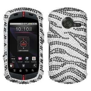 Black Zebra Skin Diamante Protector Cover for CASIO C771