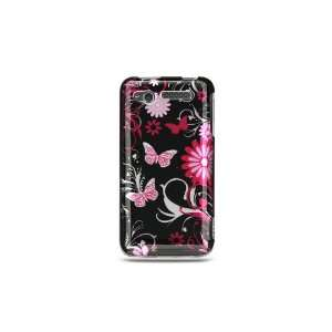 Pink butterfly design phone case for the HTC Merge