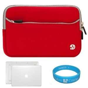Case for New 2011 Apple MacBook Pro Models + Red Neoprene Laptop