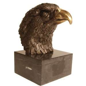 American Bald Eagle with Gold Accented Beak Handmade All