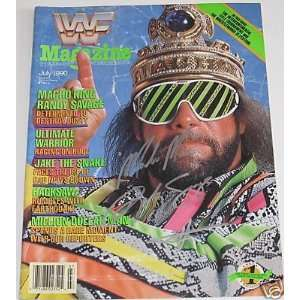 Macho Man Randy Savage Autographed Magazine: Sports