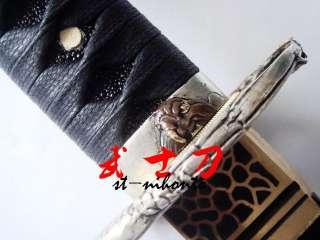 carbon steel blade ninja sword silver eagle tsuba sharpened
