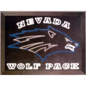 University of Nevada Wolf Pack Edge Lit LED Sign
