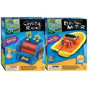 Crystal Radio / Electric Motor   Combo Pack Toys & Games
