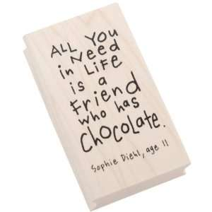 Rubber Stamp Kid Quotes, Friend/Chocolate Arts, Crafts & Sewing