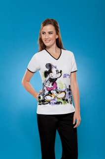NWT Disney Mickey Mouse Tooniforms Print Scrub Top XS 2XL 6734B MKWK