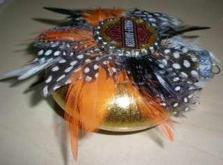 Harley Davidson Glass Glitter CHRISTMAS Ornament ooak Holiday
