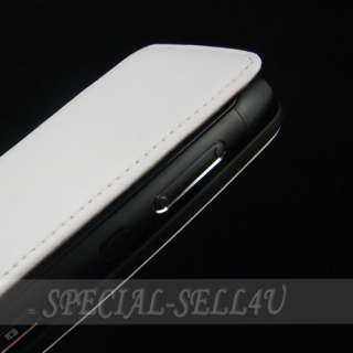 Genuine Cow Skin Leather Case Cover for Nokia N8 White