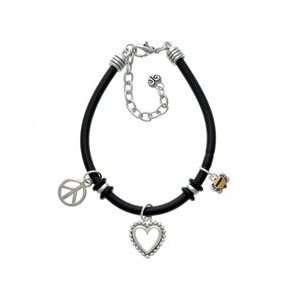 Mini Bumble Bee Black Peace Love Charm Bracelet [Jewelry] Jewelry