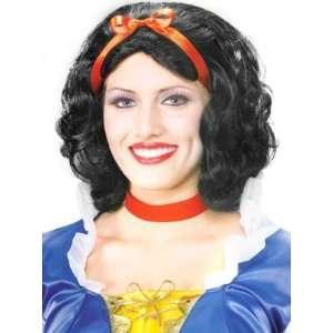 Womens Black/Red   Pretty Snow White Wig: Toys & Games