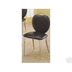Set of 2 Contemporary Retro Modern Dining Table Chair/Chairs in Black