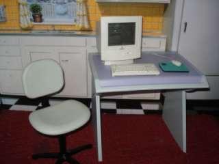 PLEASANT COMPANY AMERICAN GIRL DOLL RETIRED WORKING 2 COMPUTER DESK