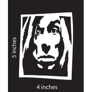 Iggy POP the Stooges Sticker Cut Vinyl Decal White