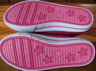 PLACE toddler girls size 11 pink slip on tennis shoes glitter NEW