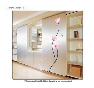 PINK FLOWERS Wall Decor & Accents Sticker Vinyl Decals