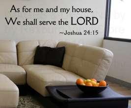 Decor Quote Inspirational Decal Sticker God Bible Joshua 24 R41