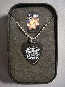 SKYNYRD WINGED SKULL LOGO GUITAR PICK NECKLACE WITH CASE NEW