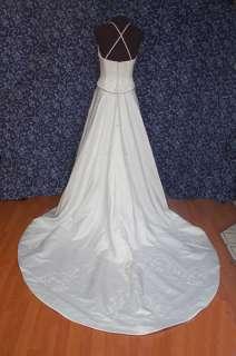 FIXER Bridal Originals White Satin Halter Wedding Dress