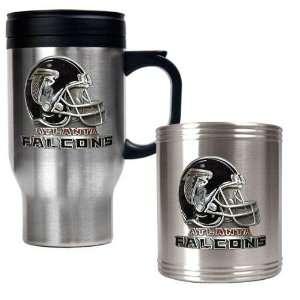 Atlanta Falcons NFL Travel Mug & Stainless Can Holder Set