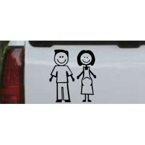 Black 20in X 18.8in    Expecting Family Stick Family Stick