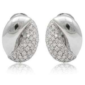 Leo Pizzo Diamond & 18k White Gold Earrings Jewelry