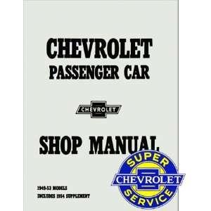 1949 1950 1951 1952 1953 1954 Chevrole Chevy Car Shop Service Repair