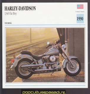 1990 HARLEY DAVIDSON 1340 Fat Boy ATLAS MOTORCYCLE CARD
