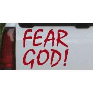 Fear God Christian Car Window Wall Laptop Decal Sticker    Red 12in X