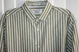 NWT Original PENGUIN MUNSINGWEAR CLASSIC FIT green striped button down