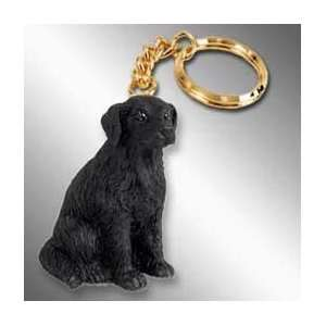 Flat Coated Retriever Dog Keychain Home & Kitchen