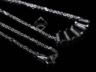 Asprey 18K White Gold Pave Diamonds Black Onyx Necklace