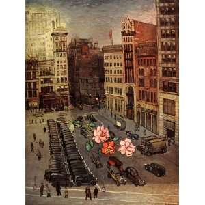 1939 Morris Kantor Farewell to Union Square NYC Print