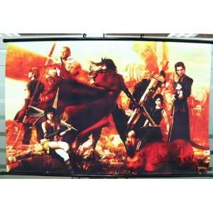 Final Fantasy 7 Cloud, Vincent, others WIDE Wallscroll Toys & Games