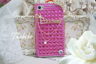 My princess) Crown Bling back Case Cover iPhone 4 4G