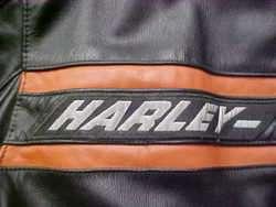 MENS LARGE LEATHER HARLEY DAVIDSON JACKET  CLASSIC