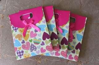 4xLovely Party Bag Paper Packaging Ribbon Gift p bag009