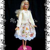 Holiday Coat & Dress Outfits Set for Barbie Dolls #P42